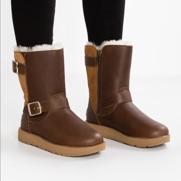 e1d682086e7 NWOT UGG Waterproof Brown Leather Breida Boot